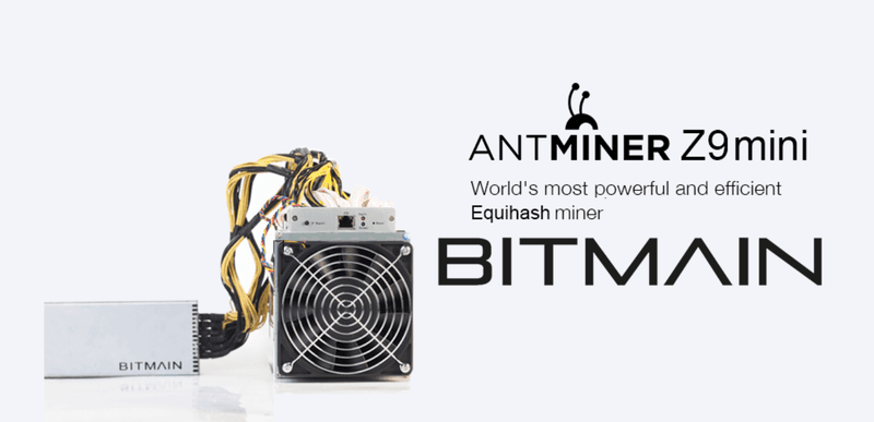 Bitmain's Z9 Mini Z-Cash Miner.